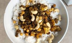 Пикантен ориз по марокански с кайма