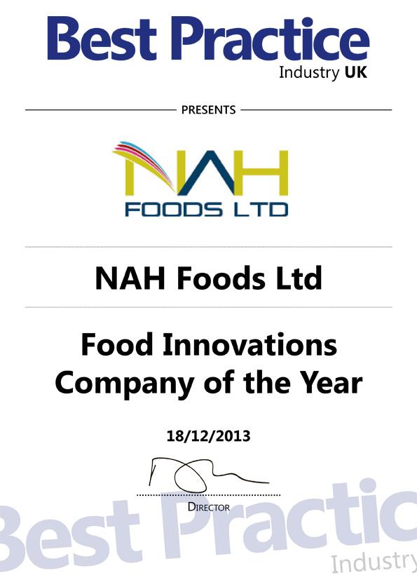 NAHFoods-award